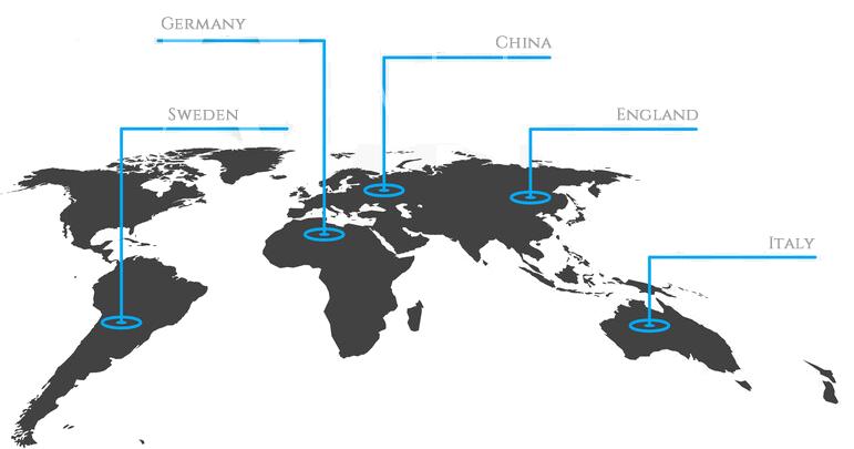 GENANOテクノロジーは世界各国で利用